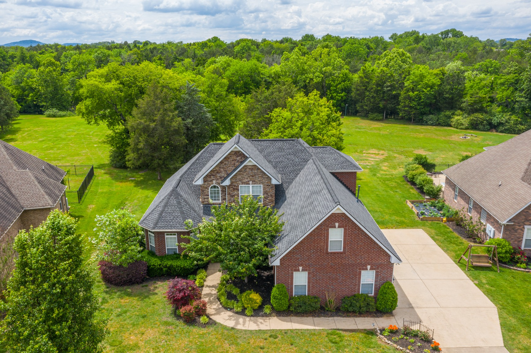 Rare Find! 1.15 acres in prime location!  Creek lot!  Triple Blackman schools, All brick home updated with granite, refinished hardwoods,  fresh paint, shiplap, new fixtures. Mac tiled shower,  Laundry shoot, Roof only 3 yrs old.  Pool table & storage shed stays. Ref. nego.