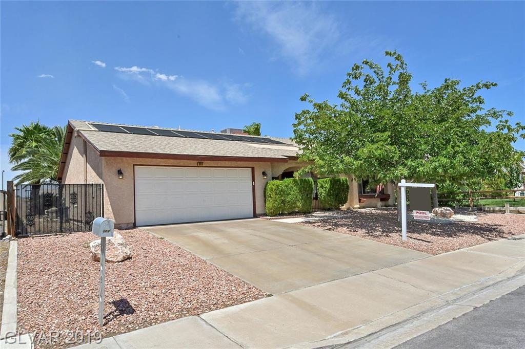 Beauty on Balsa St! Upgraded 3 bdr w/pool*den or 4th bdr option*tile flooring*new windows rear of home*secured gated courtyard entry*beautiful solar heated pool with playful 3-5-3 depth*cool decking encompasses entire patio*new roof 2012*small gated RV area*tree-lined street is just around the corner from elementary school-beautiful city park... dogs welcome-College Of Southern NV-Foothill High & freeway friendly access. A location you will love!