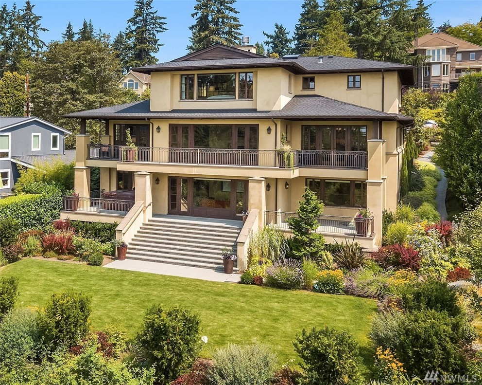 A stunning in-town oasis. Exquisite view home custom built in 2010 to exacting specs with custom finishes and extras throughout. The SW exposure takes in sprawling views of Meydenbauer Bay from all levels. Open floor plan, oversized rms, high ceilings, spacious kitchen, generous entertaining spaces, temp controlled wine rm and outdoor living spaces all perfect for today's lifestyle. All the best of Bellevue. Blocks from Old Main, parks, beaches, restaurants, shopping and more. Bellevue Schools.