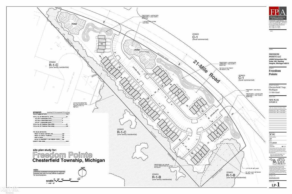 APPROVED FOR 62 UNITS, CONCEPTUAL SITE PLAN,  BOUNDARY SURVEY, TOPOGRAPHICAL SURVEY, PHASE 1 ENVIRONMENTAL COMPLETED, SOIL BORING ALL COMPLETED & Can Be Assigned to a Qualified Buyer     GREAT PARCEL W/ZONING RM-3, CLOSE TO I-94 & EXPANDING SELFRIDGE BASE,