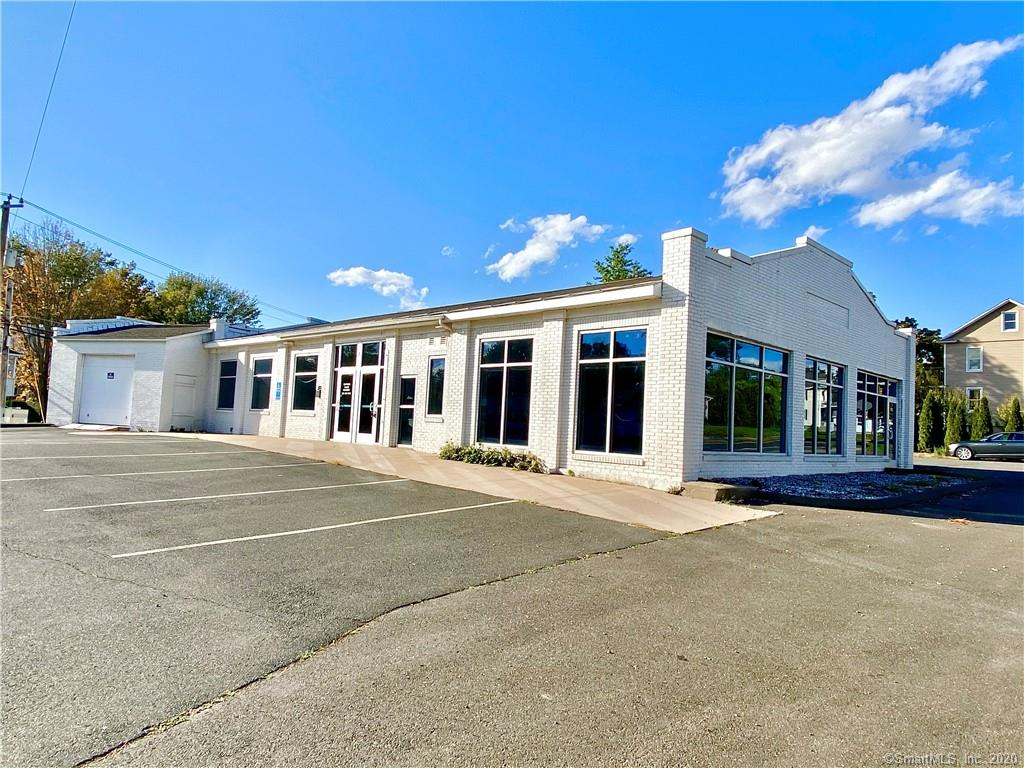 Fantastic freestanding location in downtown Windsor Locks on the point of Suffield St. and North Main St. (Rt. 159).  Clear span open space that supports many uses in the newly created Main St Overlay Zone (MSOZ) / B-DRD.  Special Use Permit eligible uses include retail, professional, educational, religious, food, restaurant, brewery, brewpub, amusement, etc.  Space could be subdivided as well.  Close proximity to train station and new Hartford Line service, Montgomery Mill Apartments, and I-91 access.