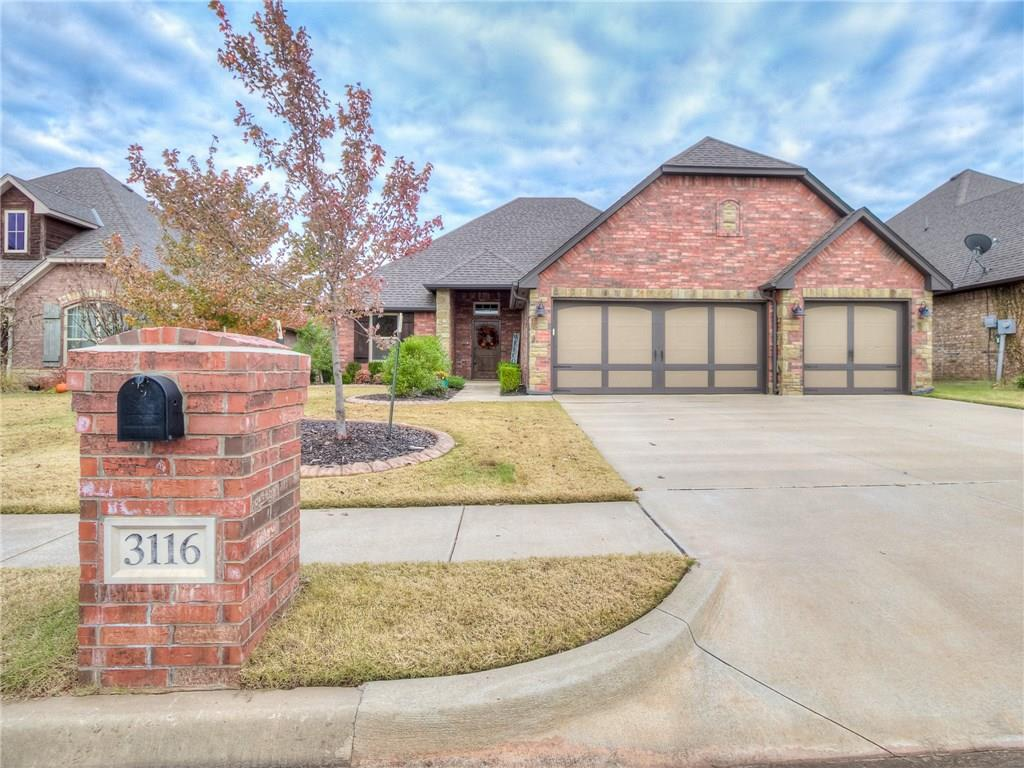 Be home for the Holiday's in this nearly new home in gated Hampden Hollow located east of I-35 in Centennial Elementary. A perfect mix of rock and brick greet you leading you into the home full of natural light and warm touches. Entertaining is a breeze with the living room with gas fireplace and hardwood floors that is open to the functional kitchen. A walk in pantry, eat around island, stainless steel gas stove coupled with granite counter tops make this kitchen a show stopper. The private master retreat features a tray ceiling with soft lighting, a soaking tub, walk in shower and large closet. 2 secondary bedrooms share a bathroom on the other side of the home with storage in between. A 4th bedroom or study is located on the main level as well. Upstairs features an over sized bonus room with a powder bath, closet storage and attic access. Hampden Hollow is the perfect place for any family with a neighborhood pool and playground. You have to see this home to believe this price!