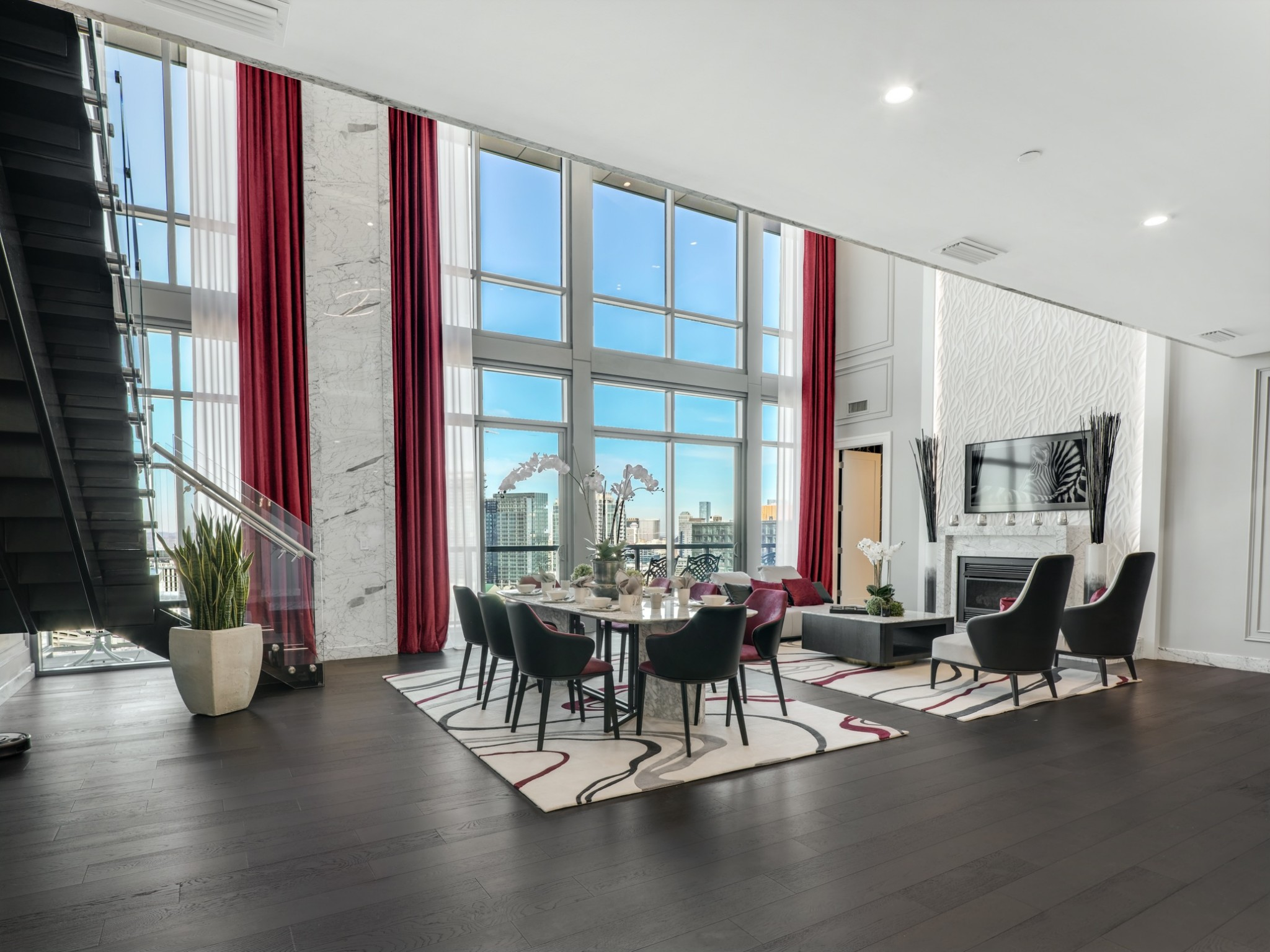 Multiple Offers. Offer Deadline is 10/11 at 6pm and response by 10/12 @ 10am. Spectacular views and unparalleled luxury unfolds in this amazing two-story Penthouse. The owner spared no expense reimagining and renovating this incredible space. Smart Home Automation, Italian Carrara Marble, and comes furnished with custom furniture pieces, draperies, and artwork. Every room boasts sweeping sunset vistas. PH Separate Parking Garage & Storage unit is included. Furnished.