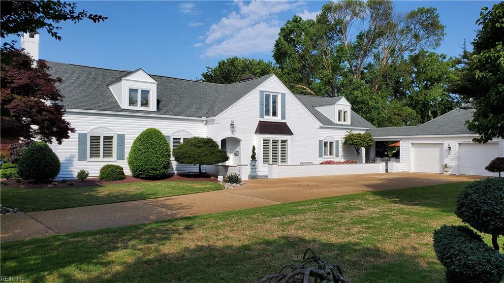Fully restored, New England style Colonial, 2 story. 4 BR, 3.5 baths, 4200 sq/ft home in downtown Hampton with beautiful view of the water!; large rooms with panoramic views on meticulous landscaping; designer kitchen with Bosch appliances and granite counters that wrap upper cabinets - GREAT kitchen for the cooking enthusiast! master bedroom on the 1st floor; over-sized closets with custom cabinets for shoes; magnificent bathrooms with designer touches in all 3.5 bathrooms;restored parquet wood floor on the 1st floor; high-quality carpet throughout the rest of the home; stunning backyard for entertaining; over-sized 2-car garage with a lot of storage in the attic; irrigation system for the grass and flower beds; very social neighborhood; a magnificent property!
