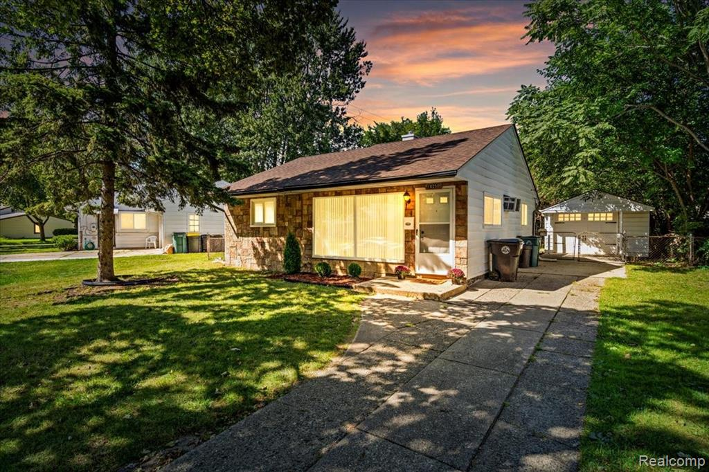 Remarkably cute, clean and a GREAT location! You'll LOVE this Oak Park ranch - recently renovated in 2021! BRAND NEW luxury vinyl flooring, furnace, hot water tank, carpet and blinds. Entire HVAC system BRAND NEW. Newer roof. Stay cool during those HOT Michigan summers with brand new central A/C. Fresh neutral paint color throughout. Granite countertops in kitchen with brand new lighting fixtures. Fenced backyard with detached garage. Located on a quaint, tree-lined street. Less than 5 minute drive to Downtown Ferndale bars, restaurants and shopping. A true gem with VALUE in all of the right places! **2-IN-1 WASHER AND DRYER OR CREDIT WILL BE INCLUDED BEFORE CLOSING**
