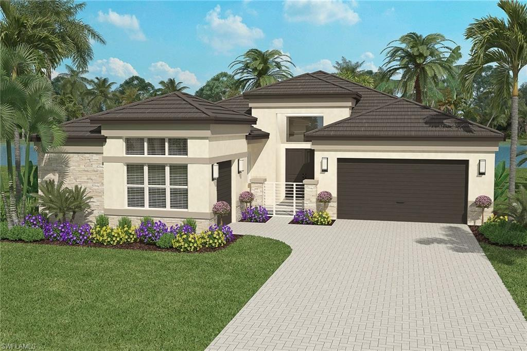 "New Construction projected for February/March 2021 delivery. Located in Valencia Trails by GL Homes, Naples newest 55+ lifestyle development featuring gas appliances as standard. A ""just for you"" resort-lifestyle included in the community. Live every day like you're on vacation with 42,000 sq. ft. clubhouse that offers exceptional amenities & a dynamic calendar of events. Amenities include a restaurant, poolside bar, resort-style pool, lap pool, resistance pool, hot tub, tennis, pickleball, bocce, dog park, social hall, fitness center, sports lounge, card rooms, cooking studio, spa, arts & crafts. This charming Seabreeze floor plan home has an elegant gated front entry courtyard. A grand foyer leads to the large open great room which features sliding glass doors out to the lanai & a dramatic coffered ceiling. The well appointed kitchen has center island, abundant cabinets & pantry. The dining room is conveniently positioned next to the kitchen. A unique club room provides plenty of flexible space. The master retreat has 2 spacious walk-in closets & a luxurious bath. Enjoy a sparking lake view from the screened lanai. Prices subject to increase without notice."
