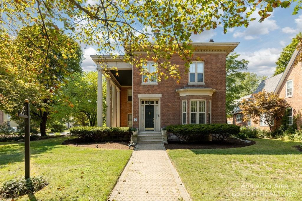 This once-in-a-lifetime dream home has made its way to market where it won't stay long.  Built in 1870 in the historic corridor of Ypsilanti, this literal brickhouse has beautifully stood the test of time.  They do not make them like this anymore!  Built to last, this 150 year old masterpiece holds all the wonder of yesterday, while being treated to modern updates galore. Almost too many updates to list: new stainless steel kitchen appliances, new coats of paint, revamped boiler and new water heater, refreshed landscaping, and updated electrical with electric vehicle charger.  Don't be shocked to find this home beyond move-in ready AND/OR ready to open your business.  With 6 bedrooms, 6 bathrooms, and over 4000 square feet, this property offers ample space to play host for fundraisers and parties.  Hold more weddings in the private courtyard or continue to operate this successful Bed & Breakfast and Air BNB travel destination.  To top it off, take the attic access to see the newly repl