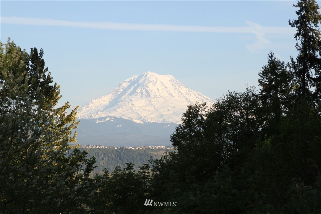 VIEWS - Mt Rainier, sunrises, valley, Sumner! 1+ acres. 2020 roof, gutters, heat pump, water heater, master bath w/large soaking tub & walk-in shower. Remodeled eat-in kitchen w/slab granite counters plus breakfast bar. 3 bedrooms & 2 full baths upstairs; Lower level features large bonus & rec rooms, bedroom with 3/4 bath and separate entrance. MIL? Large view deck. Central AC, vac & sprinkler system. Siding 2013 paint. New interior paint. Circular driveway. 3 car garage. Generator. NO HOA!