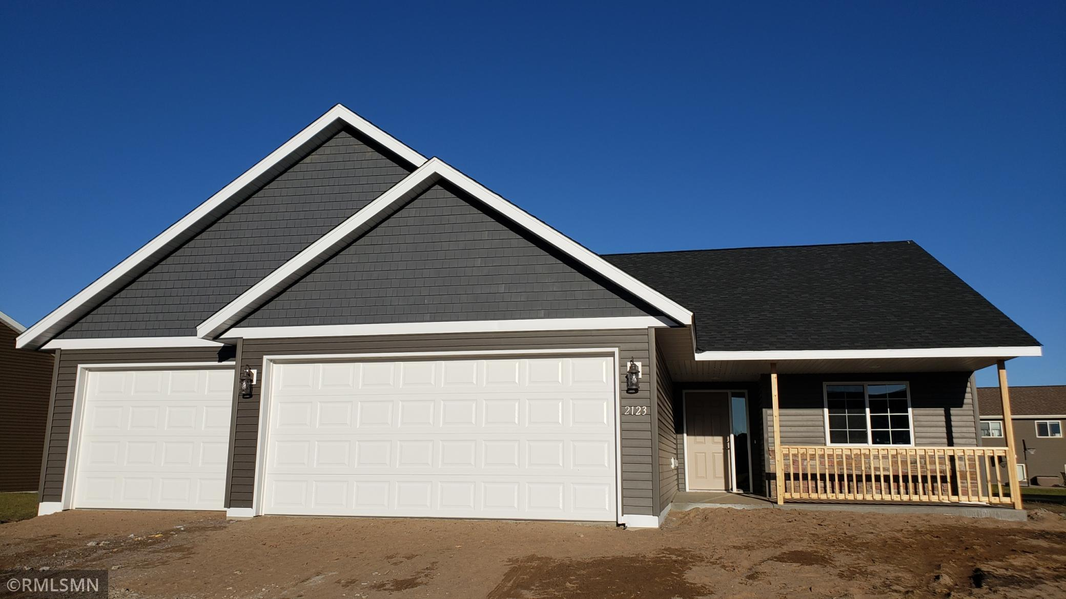 Not actual photos, but this exact home is available for viewing and/or purchase in Sartell. MLS 5655275  Beautiful To Be Built 3 bed, 2 bath patio home. This home features a spectacular master suite with dual sinks, a soaking tub, step in shower and huge walk in closet. Large great room with a cozy electric fireplace and vaulted ceiling. The kitchen features a large center island, granite counters, stainless appliances and large pantry. Insulated three car garage with opener. Sod yard, sprinkler system and driveway. No association. New home warranty included. Buy now and choose your amenities, colors etc!