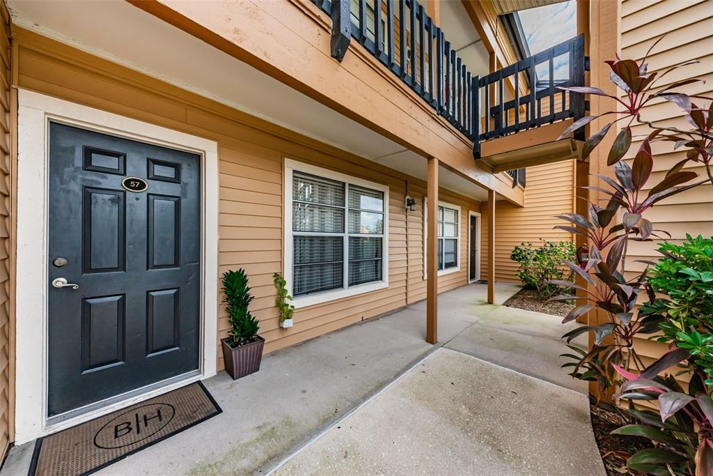 """Invest or plan to live resort style in this gated community. You will enjoy stunning sunsets from your waterfront patio and refreshing mornings while you get lost in bird watching. The poolside setting makes you feel like you are on vacation ever day. This unit is a TURNKEY END UNIT.  (please note that some furnishings belong to the tenant and will be labled """" belong to tenant"""", a list of items that does not convey will be provided). The AC was replaced in 2019. Easy access from parking to your unit,easy access to the mailboxes,easy access to the pool, grills and work out room. Located close to East Bay Plaza, which includes Publix supermarket. 4.4 Miles away from St Pete airport and 18.7 miles away from Tampa airport. 9.4 miles away from beautiful Clearwater Beach. AS IS CONTRACT, AND PLEASE CASH OFFERS OR HARD MONEY. TENANT LEAS EXPIRES JULY 2022 Monday's through Friday's 24 hour notice."""