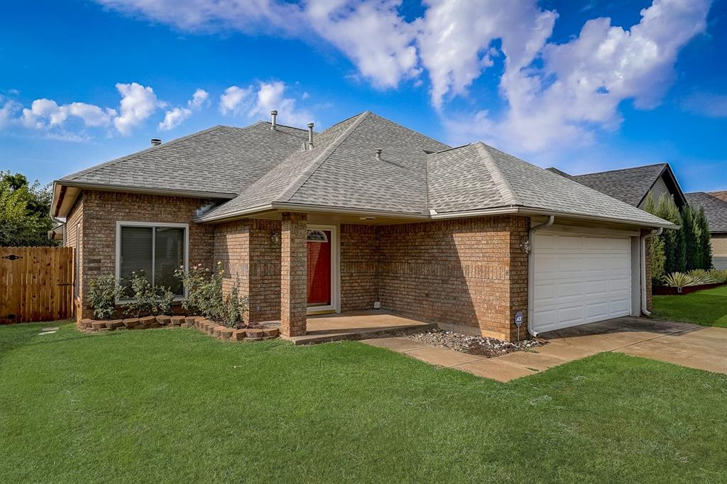 This Edmond two-story home offers a patio, and a two-car garage.  This home has been virtually staged to illustrate its potential.