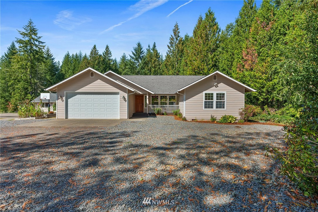 Gated Entry to a private home on 3.6 acres! Peaceful, fully fenced & consistent high speed internet makes this a wonderful opportunity for multi-generational living or home based business. Detached SHOP w/ 240 has full bathroom and above is ADU-like 768sf AC/heated BONUS SPACE for multi-purpose use! Excellent setting for entertaining with ample parking, large deck, custom play set & zip line, large patio area, sports court, & RV parking. Build your homesteading skills with garden beds, chicken coup w/ enclosed run, and space for more! The home features bright open floor plan, Master Suite, 2 add'l bedrooms, PLUS office/den/hobby/reading room. So many options for this unique property!
