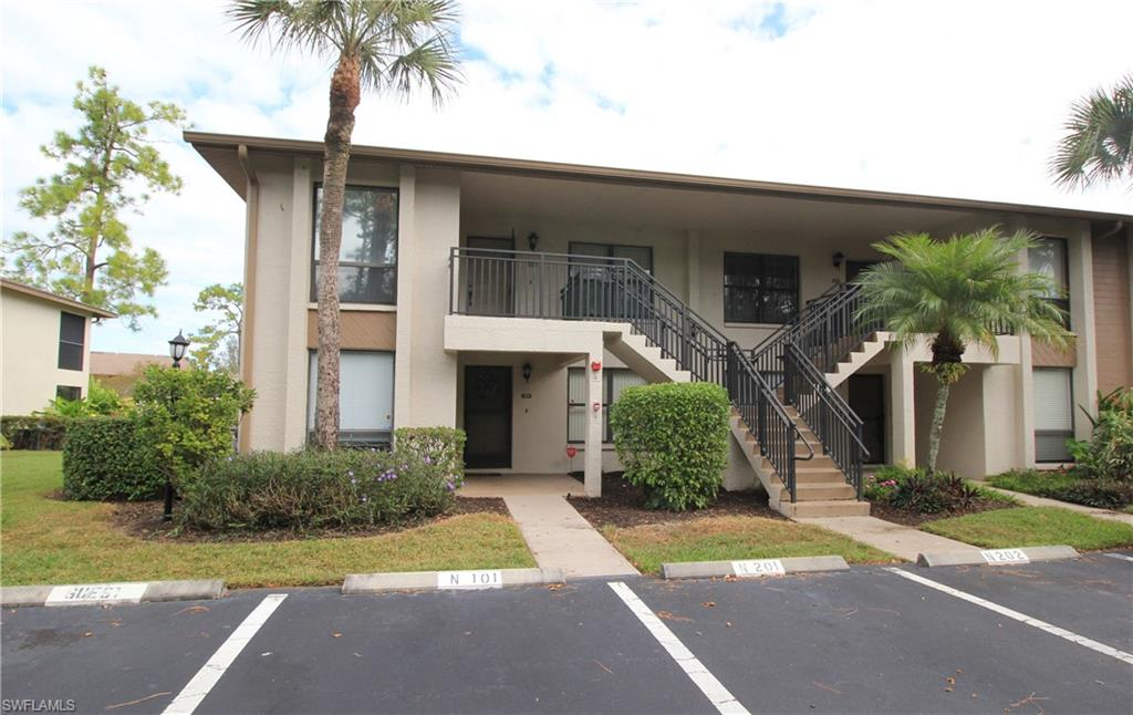 Make this beautiful and remarkably comfortable 2br/2ba ground floor unit overlooking the canal with an amazing location, conveniently located just minutes to everything that Naples has too offer. With Dining/eat-in kitchen, Granite and tile throughout the entire home and meticulously maintained and updated bathrooms. This condo sits in a pet-friendly community and has an assigned parking in front of the unit with two guest spaces, Enjoy serene water views from the living room and master bedroom. With open, bright rooms. Updated vanities. Lush landscape with the two heated community pools nearby. This Great getaway or a Wonderful Investment opportunity. Also comes with a pre paid one-year home warranty that is transferable. A short drive to shopping, downtown Naples and its magnificent restaurants and of course, the beaches.