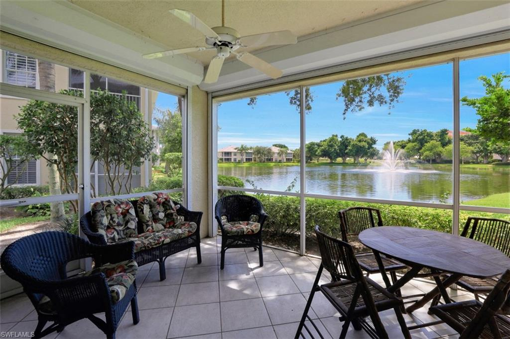 This TURNKEY FIRST FLOOR coach home is located in the sought after community of Seville at Pelican Marsh, with ideal location just 1 min from Mercato, 5 min to the Beach, and 10 min to Downtown Olde Naples/5th Ave. Situated just steps away from the community clubhouse, pool, and Pelican Marsh County Club & Pelican Marsh Sports Complex, this coach home has been lovingly cared for and lightly used by its original owner. Spacious floorplan including 3 bedrooms, 2 baths, 2 car attached garage, and almost 1900 sq ft under air. Southwestern Views overlooking the lake and fountain. New Washer/Dryer. Electric Roll down shutters on the lanai and roll down shutters on the windows. Lush landscaping, brick paver street, and driveway add to the elegant feel of Seville. New Roof 2020! Golf & Social Memberships available but NOT mandatory.