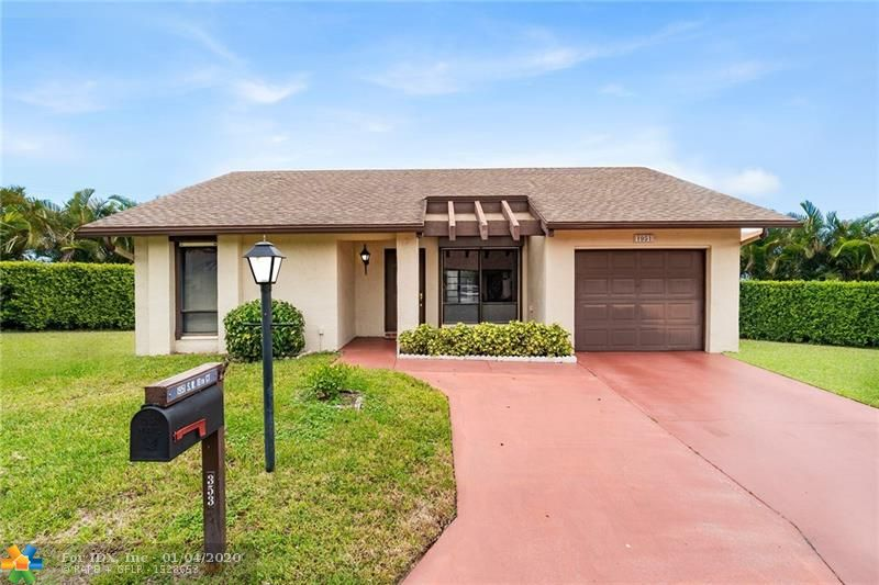 Wow!!  What an amazing opportunity to own this spacious 3 bedroom two bath home in the Meadows of Crystal Lake, a very popular and sought after 55 plus community in Broward County.  This home features a bright and open floor plan with a large open eat-in kitchen, large family room with sliding door to patio, split bedroom plan and tons of storage.  A/C one year new, roof replaced 2009, storm shutters and a double car driveway.  The community offers amazing amenities, heated pool and spa, clubhouse, tennis courts, gym, organized activities and courtesy shuttle to shopping.  Call today for your private showing.