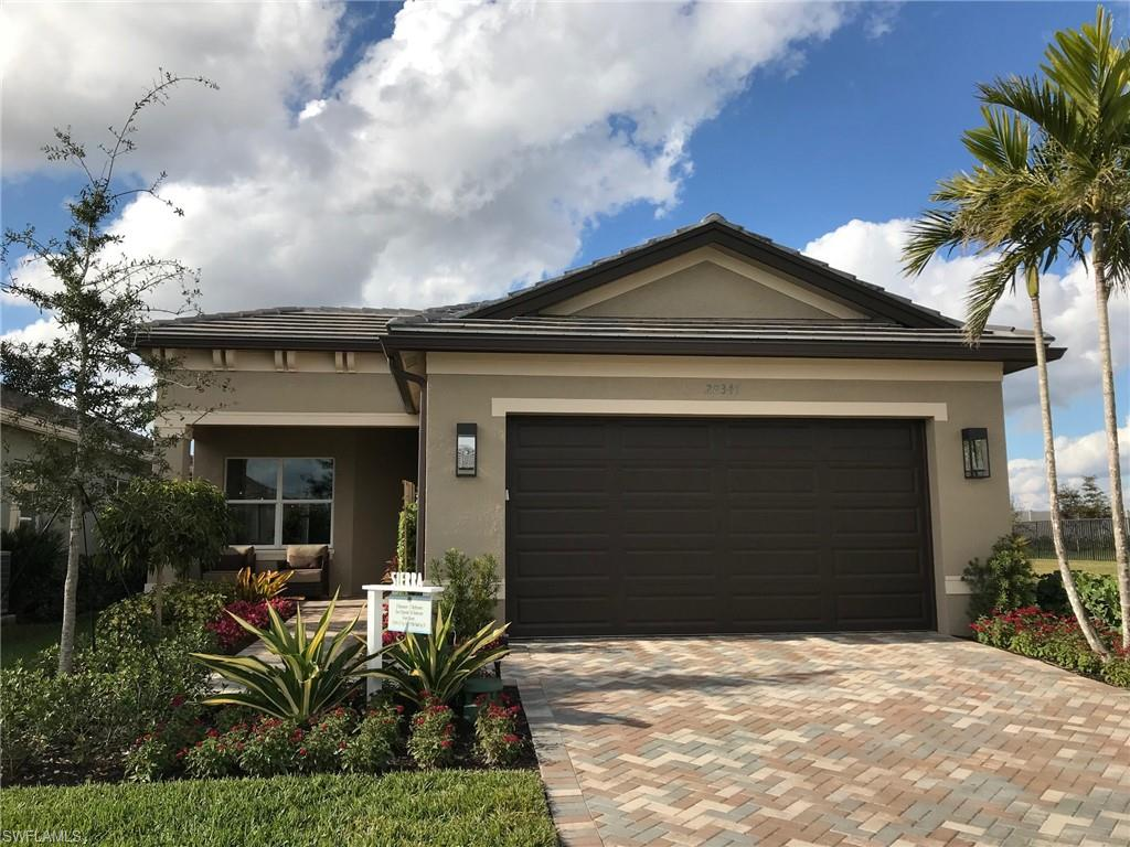 """H.14491 - Valencia Bonita is Southwest Florida's premier Adult Active (55+) community! This single story pool home is currently under construction and is scheduled to be completed in June/July. The """"Sierra"""" floor plan features an open concept living and dining area complete with designer finishes which are certain to please the most discerning buyer. The gourmet kitchen is outfitted with quartz countertops, an island, stainless steel appliances, gas range and a walk-in pantry. Master suite with walk-in closet, dual vanities, glass enclosed tiled shower and a linen closet. This home is being offered with an inground pool and screen enclosed lanai which overlooks the peaceful lake. Amenities of Valencia Bonita include a 45,000 square foot clubhouse, fitness center, social hall, full service spa, indoor/outdoor dining, resort style pool and spa, tennis and pickle ball courts, bocce, pro shop, fire pits and a dog park!  Schedule your private viewing today!  Images shown are of the model, not the actual home."""