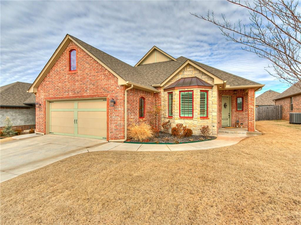 Three bed, two bath AND a study! This charming custom built home located in the highly sought after Deer Creek School District is a must see. Just like new and absolutely no detail missed. Open kitchen, dining, and living room provide the perfect space for entertaining. Wood look tile flooring throughout. Living room features stunning coffered ceiling and darling built-in shelving. Plantation shutters! Kitchen boasts granite countertops and stacked stone backsplash. Breakfast bar has brick accent that adds to the character of this home. Spacious master includes an en suite bathroom complete with separate vanities, seamless shower door, and whirlpool bathtub. Large walk-in closet with built in dresser and ironing board. Two large secondary bedrooms and full bath off hallway for guests. Backyard offers plenty of room. Extended flagstone patio is gorgeous when in bloom. See the featured amenities list for additional highlights. Close proximity to shopping, dining, entertainment, and more!