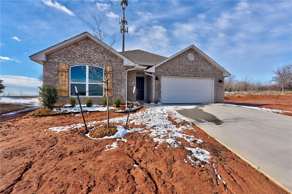 Stunning new construction home built by an award winning, Professional Certified Builder. This home comes with a TRANSFERABLE 10 year structural warranty and Lo E Windows for additional energy savings. The Sunray plan is popular for its open concept. The beautiful open kitchen has stainless steel appliances, quartz countertops and a spacious pantry. Master suite has an elegant frameless glass shower with tile surround, large soaker tub and walk in closet. This great community offers a playground, while remaining close to shopping and entertainment. It is just minutes from the intersection of NW Expressway and the Kilpatrick Turnpike.