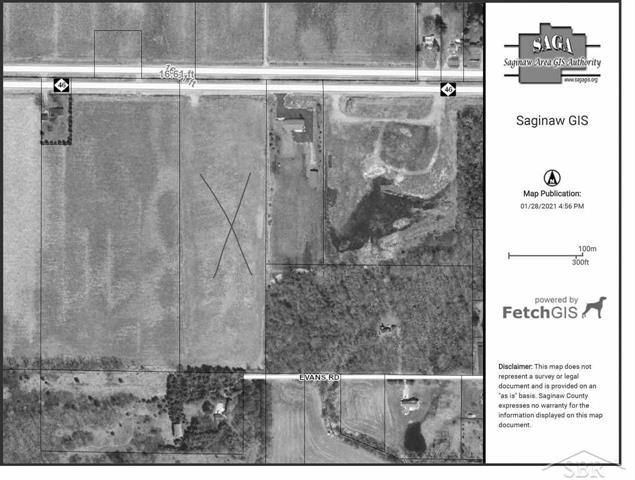 10 tiled acres with water, sewer, gas and electric available.