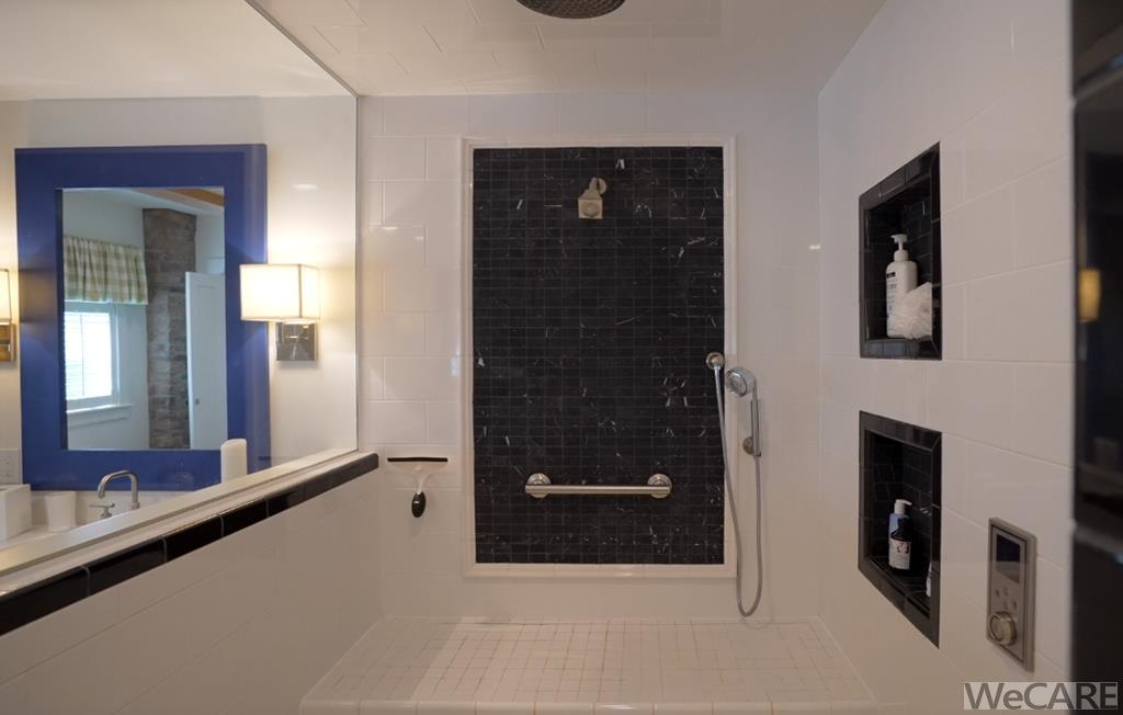 Multi-head shower that is also wheel chair accessi