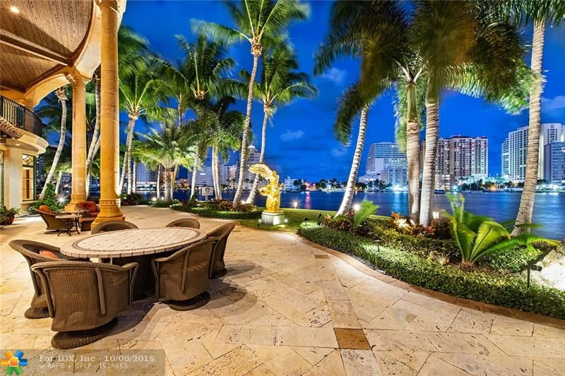 ONE of a kind, Las Olas Point Waterfront Estate with 590ft of Direct Intracoastal views. Located on 3 lots, .  Dock your mega yacht.  A boater's dream.  Watch a Boat Parade every day.  Can accommodate up to 130+ yacht or multiple yachts.  Over an acre of land.  This is one of Fort Lauderdale's most significant locations. Amazing Panoramic Intracoastal views from almost every room. Luxurious landscaping and lighting throughout the estate.  Large master suite, large balconies, exercise room, built-in bar, new roof, & pool with Dominican coral stone patio.   Great for entertaining.  Light & Bright. Only the finest finishes.  Walk to Las Olas Blvd., Beach, restaurants, shopping.  A must see.