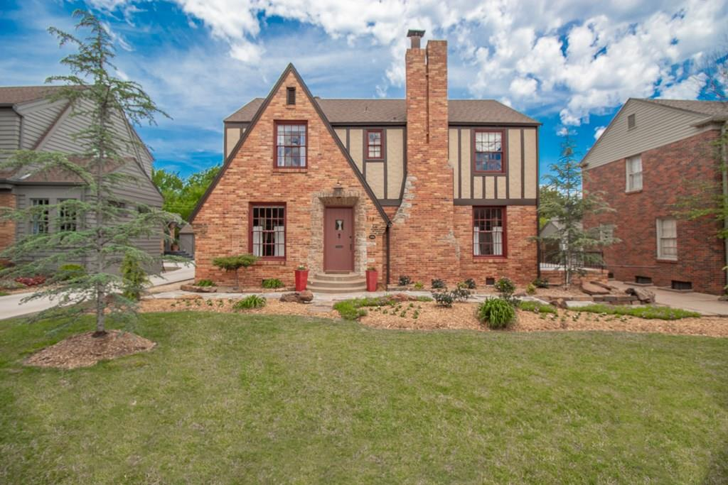 Schedule your showing today! This Beautiful German-style Tudor home is located in OKC's most sought-after neighborhood, Historic Crown Heights! Completely remodeled while maintaining the original charm.This home boast 3 bed,3 baths,2 living areas & a bonus room downstairs make your own(study, gym/game room) Original refinished hardwood floors, oversized master just painted, with bathroom and walk-in closet.Downstairs laundry room w/ full bath has been freshly painted. All custom window treatments stay in the home. Beautiful fresh stained deck to enjoy while outside with family and friends. New blown-in insulation, updated electrical & plumbing, and updated American Standard high efficiency HVAC. All new landscaping including French drains on east/west side along with irrigation in front and back. Brand new concrete floor in garage and back driveway,New KitchenAid Refrigerator, Jenn-air dishwasher, stove/oven,cable access over mantle. Enjoy the beautiful neighborhood and parks near by.