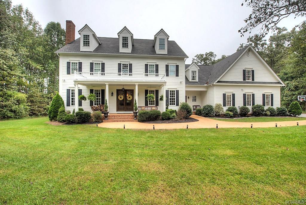 Welcome home to this gorgeous country oasis! Privately situated on 21 acres, six which are cleared, and three that are fenced. All surrounded by mature hardwoods. This southern charmer offers 6,200 sq ft with 4 beds and 6 baths. Full front porch and double door entry. Inside the home is a beautiful country kitchen with built in window seat and shelving, very spacious family room open to the kitchen, den with fireplace and wet bar, formal dining room, large mud room, and your dream laundry room. The second story has 4 bedrooms and 2 full bathrooms and an additional room for a library or playroom. There is a finished third floor that can be used for just about anything. It has it's own great room area with a bedroom and full bathroom and ample closet and storage space. Finished apartment over the garage with full kitchen, family room, bedroom and full bath. If the inside isn't enough, the in-ground pool, patio area with wood burning fire place, gorgeous landscaping and outdoor shower is amazing! Bring your horses, goats, and chickens! This home has a geothermal system so you can enjoy lower electric bills too!!! 7 of the 21 acres are its own separate buildable parcel that has perked.