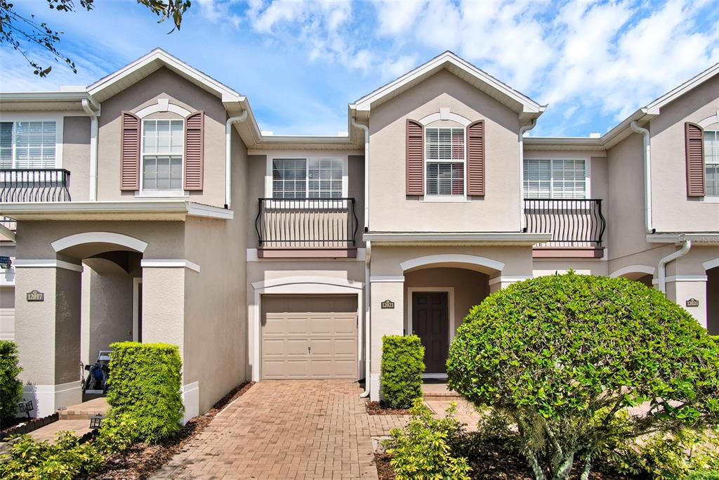 """Move in ready, well maintained in the heart of desirable Lake Nona! This amazing 3 bedroom, 2 1/2 bathroom townhome is close to fantastic schools, shopping, restaurants, UCF Medical Center, Nemours Hospital, Burnham Institute and more. Ceramic tile floors throughout the kitchen and baths. 42"""" cabinets in the cozy kitchen, one car garage and pavers in the driveway are just a few of the upgrades! This awesome community even has a fabulous pool and playground! HURRY, this will be sold very quickly, don't miss out!"""