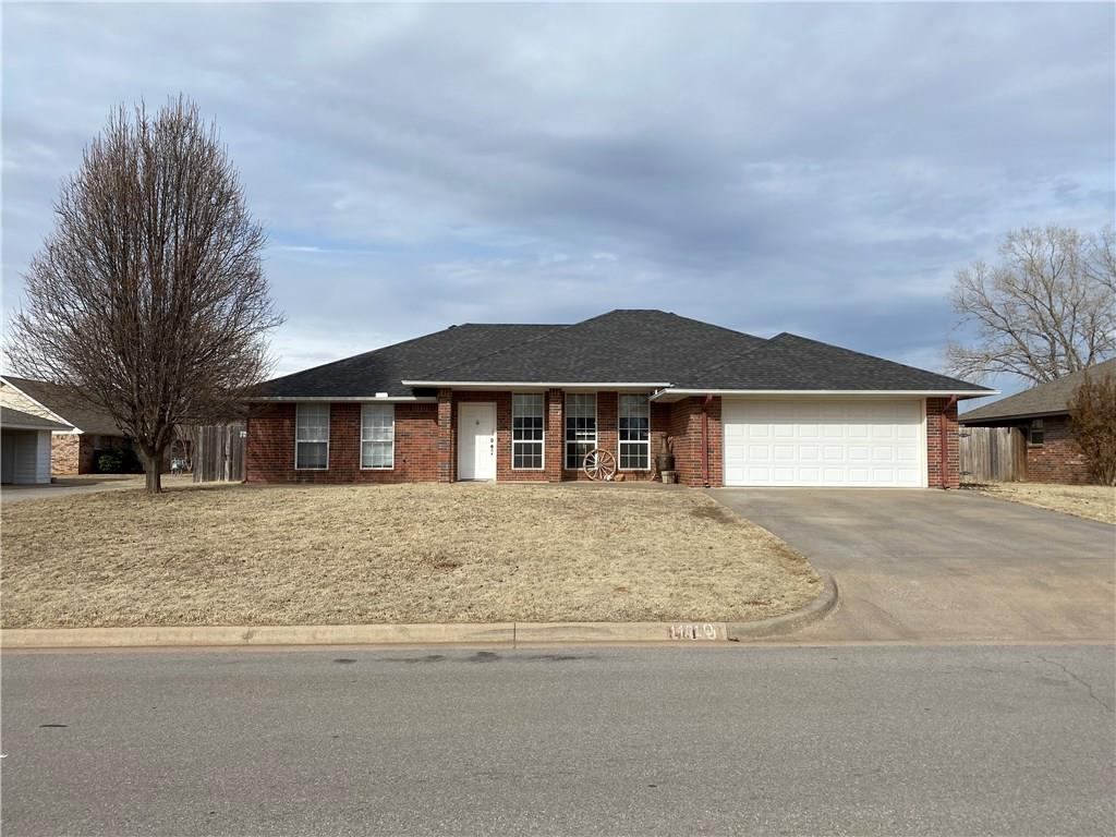 Great home in a wonderful neighborhood! New hard wood in living room,  Lots of natural light, Great floodplain, Large bedrooms, Covered front patio, Extra large covered back patio, 2 storage buildings in the back yard. Underground storm shelter in garage, Close to elementary and high school. Must see!