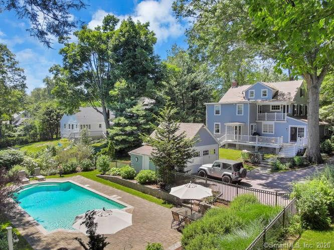 """Life is good on Toilsome Hill Road. You will fall in LOVE with this pristinely maintained and classically appointed Colonial in the heart of Stratfield Village. This turn-key home is a one-of-a-kind """"mini estate"""" with its beautifully landscaped grounds & its rear enclosed heated Gunite Pool and Patio area. This is the ideal home for entertaining - both inside and out!  The generously sized EIK w/ granite countertops & adorable pantry, offers ample dining & gathering space & sliders to a back deck for morning coffee, BBQ, dining ++. You'll appreciate the easy flow between the generously sized Dining & Living Room with fireplace & attached screened in side porch. The Family Room with builtin's and Den w french doors to kitchen provides more informal living space. The 2nd floor MBR Suite, with walk in closet, steam shower and soaking tub has its own private rear deck offering more outdoor options. You'll find 3 more generously sized Bedrooms & Full Bath on this level also. The 3rd floor has an additional BR and 1/2 bath making this the ideal space for an AuPair or Teen or Private Office. Plenty of attic storage as well! 219 Toilsome Hill features fabulous curb appeal w/ its mature plantings, stone walls, gorgeous herringbone brick driveway & multiple outdoor options of enclosed porch, 2 exterior decks and lower pool/patio area! Its the perfect time of year to take a tour of this lovely home. Trees & flowers just beginning to bloom. PRIVATE VIRTUAL TOURS available upon request!"""