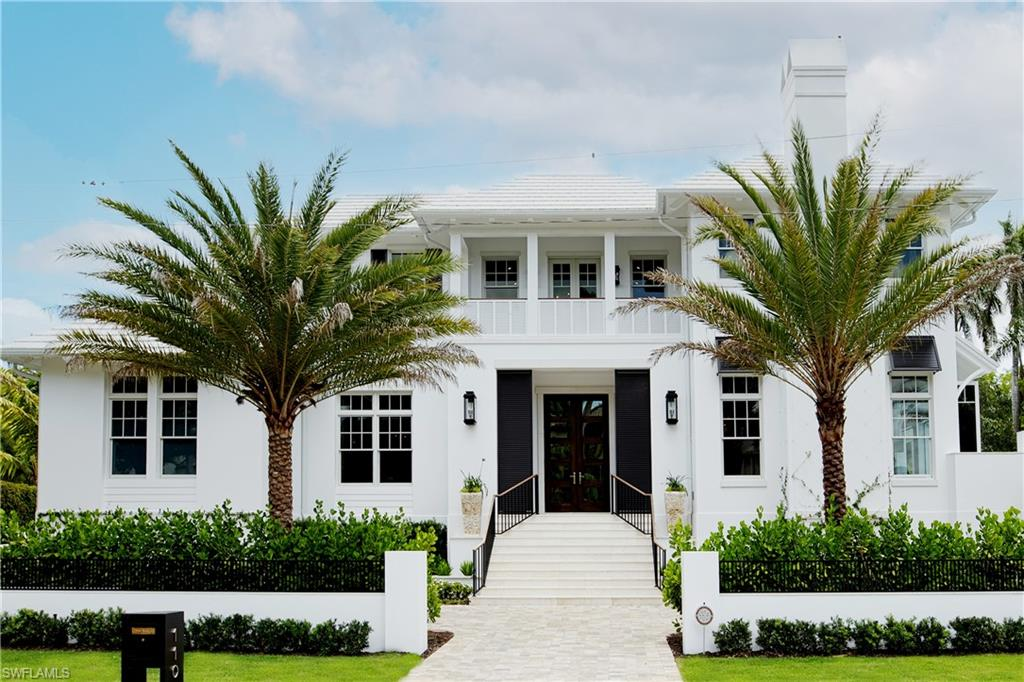 This immaculate custom home is perfectly located in the heart of Olde Naples, just 1 block from the beach and is the epitome of Naples resort style living! This lightly lived in home features exquisite interior finishes, guest quarters, multiple living areas, an elevator, a breathtaking wine room, and an extensive pool complex with spa, outdoor kitchen, outdoor fire pit, and lounge. Inside, the stunning chef's kitchen includes beautiful cabinets and tops, wolf and sub zero appliances, walk-in pantry, and built-in Miele coffee bar and ample storage. Multiple living areas capitalize on views of the pool and outdoor living space and features soaring ceilings, multiple fireplaces and spectacular architectural accents. The property is finished with a second balcony and a full 3.5-car garage. This magnificent property provides the perfect resort-style experience for the most discerning buyer. Beach access is directly across the street and residence is within a short distance to 5th Avenue South and 3rd Street South.