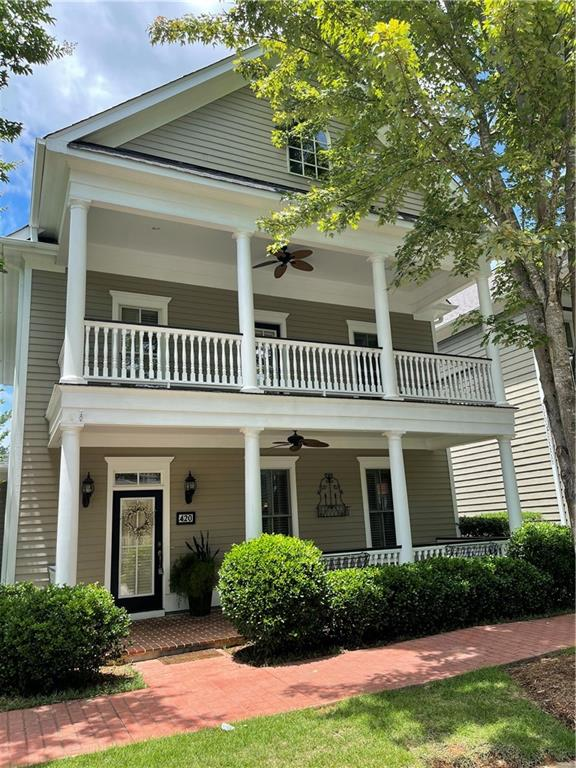 Village Walk in Clemson! 4Bed/3.5Bath & office, + great outdoor spaces include 2 porches, an upper level balcony, & a cozy courtyard connected to the master on main level. Nicely laid out floor plan with living, dining, kitchen & breakfast areas flowing together comfortably. Lovely features throughout - plantation shutters, thick moldings, gas fireplace with built-in cabinets, granite counters, & carpet-free rooms. Upper level holds 3 bedrooms: one as an en-suite with the other 2 laid out jack-and-jill style. Ready for new owners to move right in!
