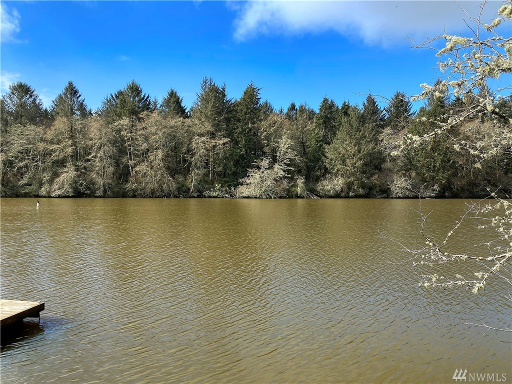 Beautiful lakefront lot in the best location you can find in Ocean Shores. Set on a quiet street across from a park and looking over the lake to the protected Weatherwax property that is covered in mature evergreen forest. This property is ready for building and is easy land to develop because it is level and has very few trees that will save on clearing costs. It also has water, sewer, and power in the street ready for quick and affordable hook up. You can camp before you build.