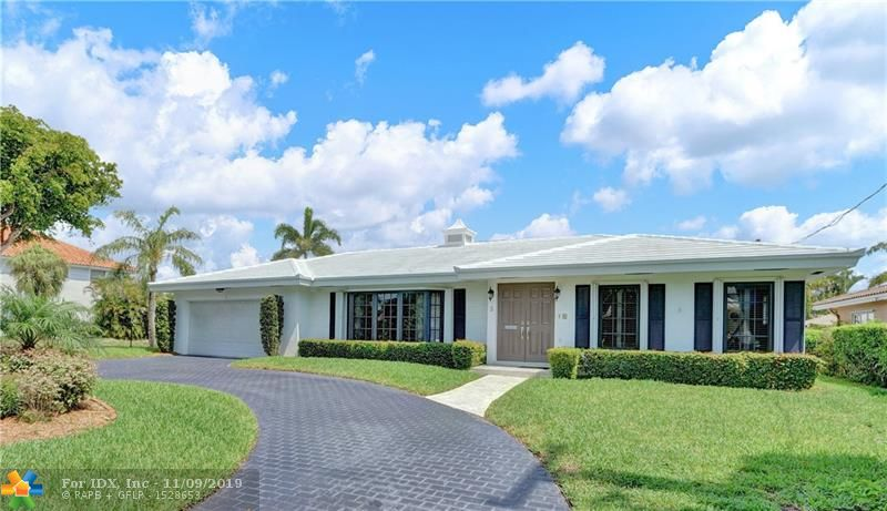 """LOOKING FOR BACK UP OFFERS on this Boater's dream! The 4 roomy bedrooms include a captain's or nanny's quarters with full bathroom and a split bedroom plan, perfect for a large family. Meticulously loved and cared for by one family for over 41 years this deep waterfront pool home with excellent """"bones"""" is waiting to be brought into the 21st century. Walking distance to the ocean! At the center is the kitchen which opens to a lovely breakfast area, a large waterfront family room and the formal dining area. The circular paver driveway allows for easy parking in addition to an oversized 2 car garage. The large and private master bedroom features an en-suite cabana bath and walk-in closet. New 5 ton A/C 2016, NEW Solar wtr htr 2014, Pool on Pin Piles, WDO warranty. Bayview Elementary!"""