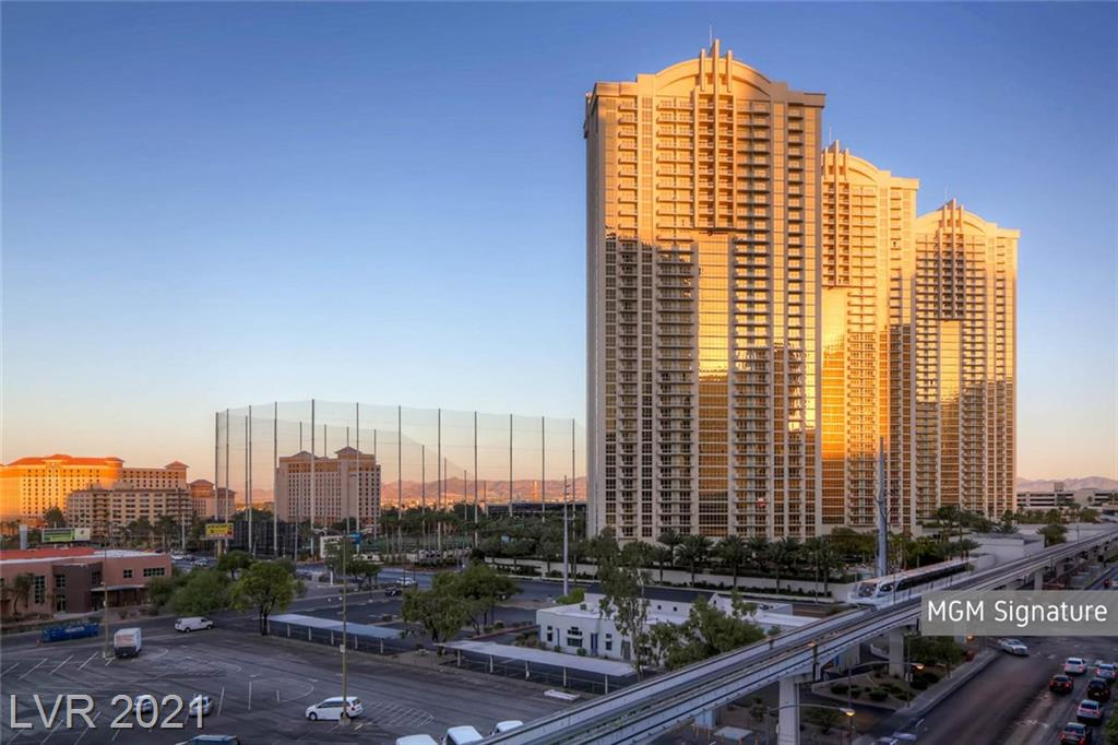 AirBnB APPROVED HIGHRISE! Tower 2, 1 bedroom suite with balcony and views of the Las Vegas Strip, Las Vegas Valley, Topgolf and Wet Republic!!! Fully furnished, turnkey suite features stainless steel appliances, granite counters, built-in entertainment center, wet bar and private closet with safe. Plush King bed and pullout sleeper couch that comfortably sleeps 4! Enjoy MGM Signature's private, heated pools/spas with cabanas, lounge with full bar, gym, valet, concierge and Starbucks! Connected to The World Famous MGM Grand, endless shopping and Wet Republic Ultra Pool, plus Topgolf within reach!!!