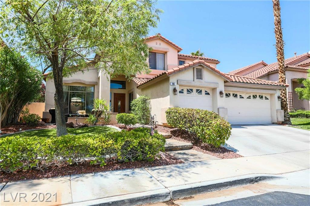 Impressive Property at Quail Ridge Subdivision in Summerlin !! Uniquely Upgraded home in a Cul-De Sac, Gourmet Kitchen, Custom Hardwoods throughout, Wet Bar & Wine Cellar !!, Custom Resort Pool and Spa with Waterfalls, Built-In BBQ and Fireplace for entertainment gurus!!