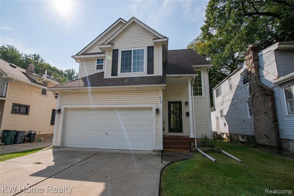 Don't miss this 3BR/2.5 bath newer built home in Ferndale.  OPEN SUNDAY 9-19-21 from 1-3PM.  Great location- easy walk to downtown & restaurants, easy access to expressways.  Light filled Kitchen & Family Room open to large deck overlooking a deep fenced backyard with firepit. White kitchen cabs, stainless steel appliances, granite countertops, the island separates the family room from kitchen, and there is an additional eating nook overlooking the yard.   Great finished basement for added recreational space and additional storage. The 2nd & 3rd BRs have private entrance into main bath (Jack & Jill). Master suite has private bath and walk-in closet. There is a convenient 2nd floor laundry room - nice!  There is a true 2-car garage with additional storage space. Move-in ready.  Come take a look - this home is waiting for you.
