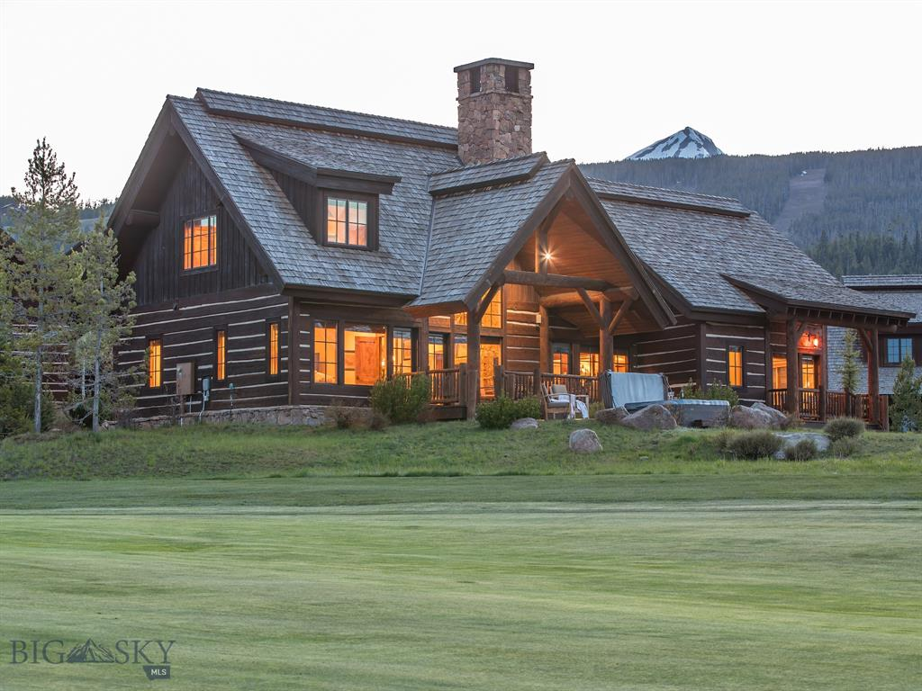 For the first time, this premier Cabin has finally come to market. This Cabin was initially purchased prior to public release and has been host to one homeowner to date. It is perfectly situated along the first hole of the private Tom Weiskopf Signature golf course and its ski in/ski out access is superior to any location in Big Sky. Insulated from the construction of the Montage Hotel, yet located within walking distance to the Clubhouse, pool, kids center, golf course, hiking and biking trails, the Cabin will also enjoy the forthcoming Montage amenities upon completion in 2021. This Cabin provides not only the best in privacy and convenience offered at Spanish Peaks, its floorplan and unique outdoor spaces make it home. After an adventure-filled day, start the evening on the custom patio overlooking unobstructed golf course views and end in the sunken hot tub surrounded by integrated landscaping taking in the starry Montana skies.