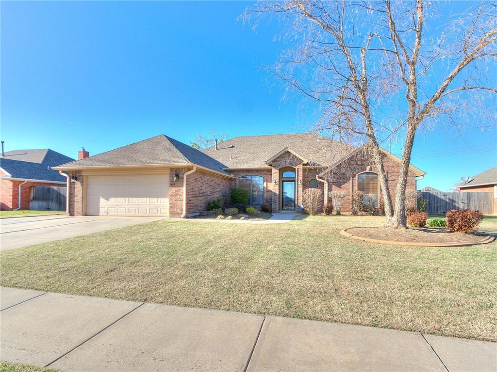 """Fantastic space in this 4 bedroom, 2.5 bath home in Castlerock in NW Norman!  Approximately 2403 square feet including 2 living areas and 2 dining. Kitchen features include a full pantry, breakfast bar, granite counters, gas stove and built-in oven and microwave. Master suite has access to the fantastic large deck, spacious walk in closet, and beautiful tile work in the master bath. Split bedroom floorplan features the master and an additional bedroom/study on one side and 2 bedrooms and full bath on the other side of the home. The roomy backyard backs to a greenbelt and has a storage shed and huge deck to enjoy that is partially covered. Above ground storm shelter in the garage will be easy to get in and out of. Take advantage of the pool, lakes, basketball court, playgrounds, and walking paths Castlerock has to offer. Located very close to schools, restaurants, shops, and health care. *MULTIPLE OFFERS* Submit your """"Highest & Best"""" offer by 10:00am deadline on Monday, April 5, 2021."""