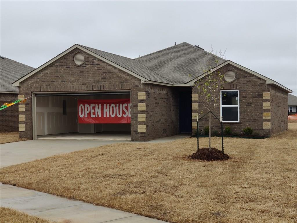 Come see this brand new home located in Mustang School District.  Cozy 3 bedroom, 2 bathroom home with large lot and great location.  It is conveniently located close to I-40, Kilpatrick turnpike, shopping and restaurants.   Schedule your showing today for this Wright floor plan home!