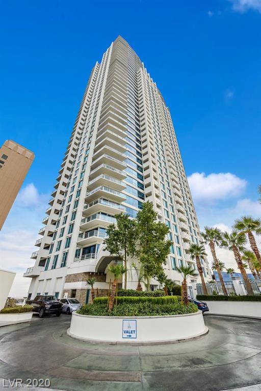 AMAZING DEAL!  Fully furnished and turn key 2-bedroom condominium located on the 19th floor of Sky with gorgeous Strip and city views.  Unit features dual masters with bedrooms on opposite sides, beautiful wood flooring, master bath jetted tub, granite countertops, stainless steel appliances.  Incredible value!  Take your elevator down to Las Vegas Blvd!  Sky amenities include 24-hour security, concierge, pool, spa, pool cabanas, steam room, sauna, fitness center, valet, pet park and more!