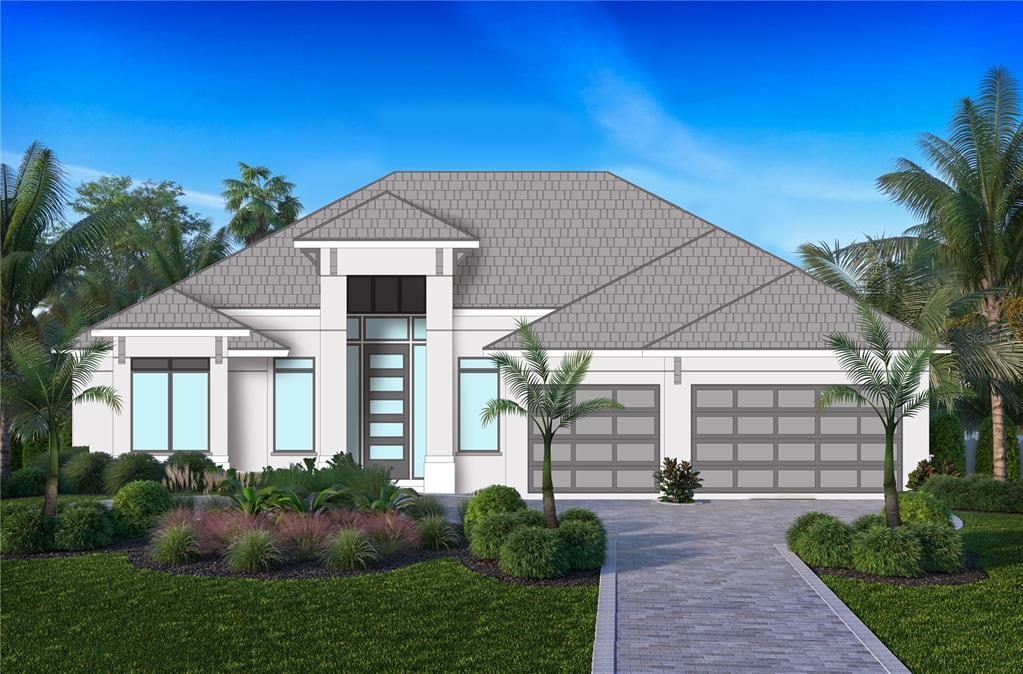 Under Construction. NEW Builder Model now under construction. Beautiful southern exposure single family 80' waterfront pool home with private dock. Currently the home has just broken ground. Anticipated completion January 2022. A custom 2,700+ ft home with access to the Intra-coastal and the Gulf. This home will feature a modern custom design with 3 bedrooms + study, 3 bathrooms, 3 car garage, one floor, top of the line hurricane impact windows and doors, all open concept overlooking the canal, all modern top of the line finishes, no fix bridges, deep water canal.  See attachments for proposed finish details and Floor Plan.
