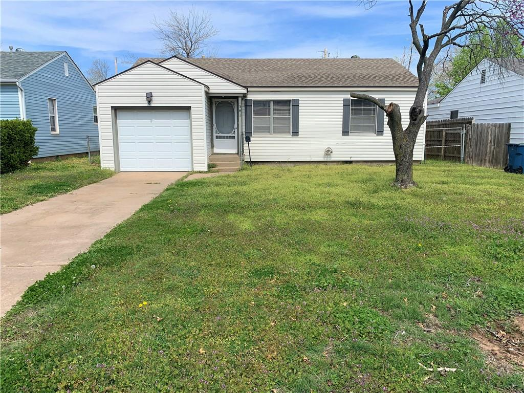 2 Bedroom home located close to Tinker Air Force Base. Central Heat & Air Conditioning, Stove supplied. Washer & Dryer connections in Garage. Hard wood floors and Fresh paint. Large Fenced back yard.  Security deposit is equivalent to one month rent. Application fee applies per adult.