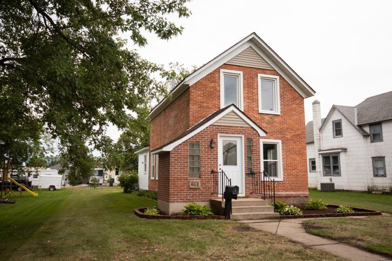 Built in 1920 here is a 2 bed 1 bath 1 3/4 bath in Sauk Centre near downtown. Property features: Brick Exterior, New Windows/Soffit/Fascia/Paint/Landscaping, Roof is 4 years old, Newer Furnace & Hot Water Heater. Original Hardwood flooring throughout the home w/ exception of Kitchen & Main Floor Laundry off kitchen.