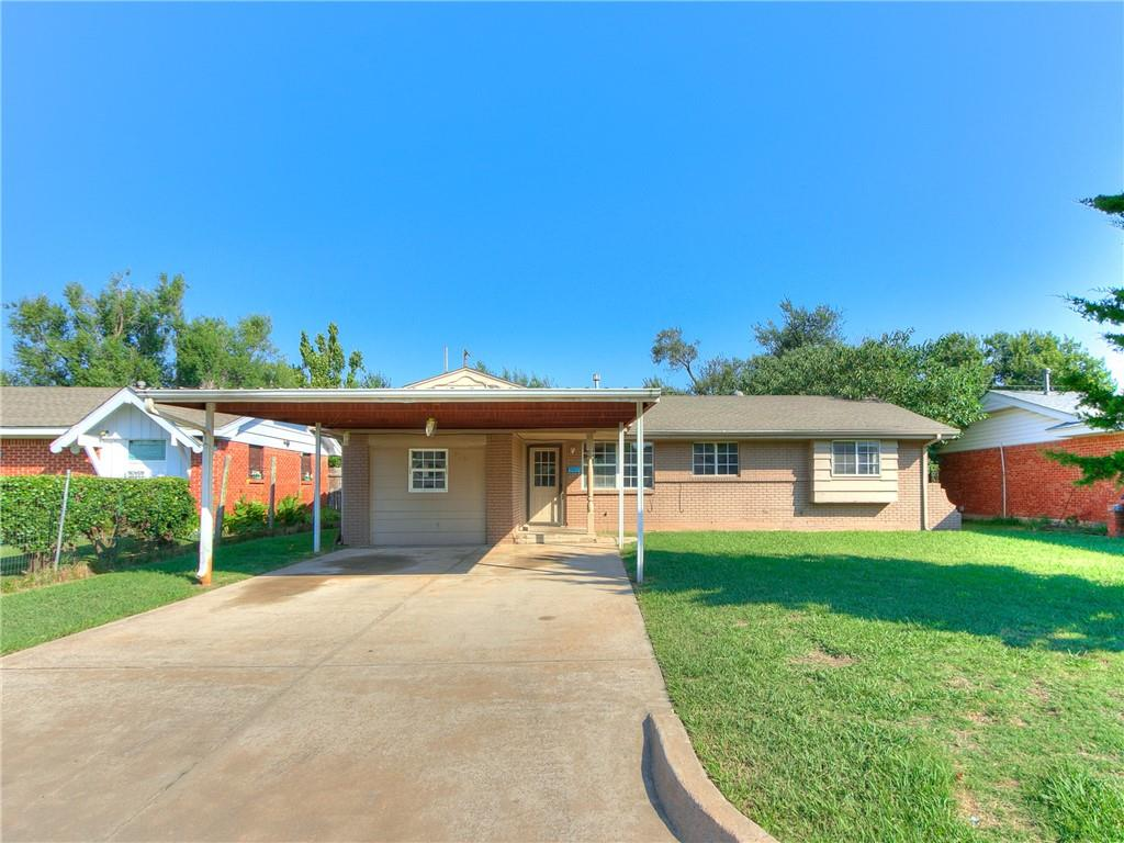 Great 4 bedroom home in Moore School District ! Home features fresh paint, tile floor throughout, lots of extra storage including 2 closets and cabinets in the hallway.   Large backyard with extra privacy due to the greenery lining the fence, complete with a storage shed.  This will be great for a  first time home owner or Investor.