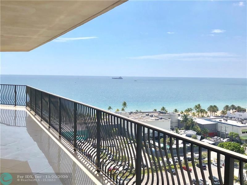 Stunning panoramic views of the Atlantic Ocean and Intracoastal waterways from this very large covered wrap around corner balcony. Luxurious 3 beds + 2.5 baths with private elevator that opens into the main entrance foyer. Interior features include an open floor plan, marble flooring throughout, kitchen granite countertops, stainless steel appliances and floor to ceiling windows. Furniture negotiable for turn-key.  Jackson Tower's offers a heated pool, hot tub/ jacuzzi, club room, fitness center, sauna, 2 garage parking spaces, valet parking, security and lobby attendant.  Just one block short walk to the beach, marinas, restaurants, nightlife, boutiques, state park, and shopping mall. Easy to show with short notice.