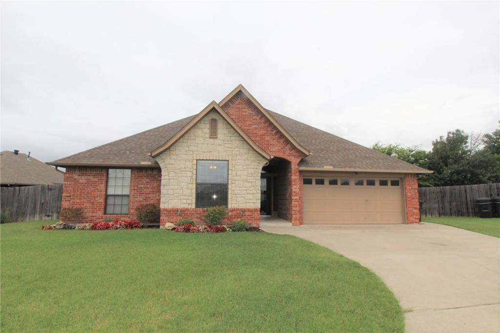3 Bedroom 2 Bathrooms located in Prairie Field Estates. Privacy Fenced backyard, Central Heat & Air Conditioning, Fireplace in living room. Huge Master Closet. 2 Car Garage. Granite countertops with TONS of cabinets. Large Pantry. Security deposit is equivalent to one month rent. Application fee required. For additional information or to arrange an appointment to tour the home please call today.