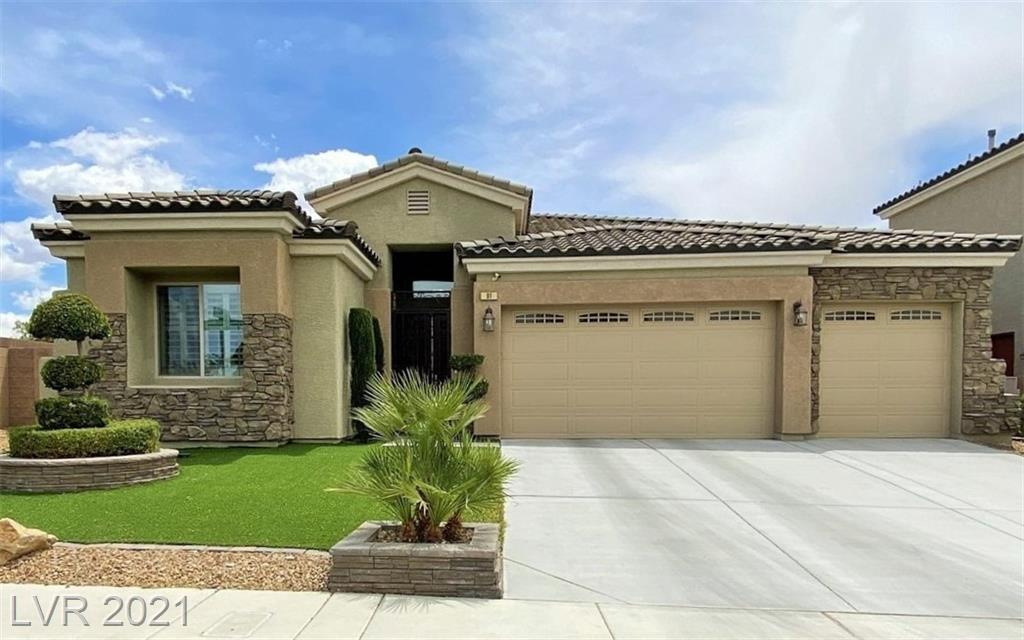 HERE IT IS! BEAUTIFUL SINGLE STORY IN A GATED COMMUNITY OF JUST 38 HOMES, IN THE EXCLUSIVE, HIGHLY DESIRABLE, WELL-MAINTAINED GLEN BROOK IV NEIGHBORHOOD. LOCATION, LOCATION, LOCATION! 5 MINUTES FROM RAIDERS PRACTICE FACILITY, 12 MINUTES TO STADIUM, STRIP, AND AIRPORT. HOME FEATURES 3 BEDROOMS (CAN BE CONVERTED BACK TO 4) 3 FULL BATHS, GRANITE ISLAND, STAINLESS STEEL APPLIANCES, NEW SHUTTERS. HURRY BEFORE IT'S GONE!