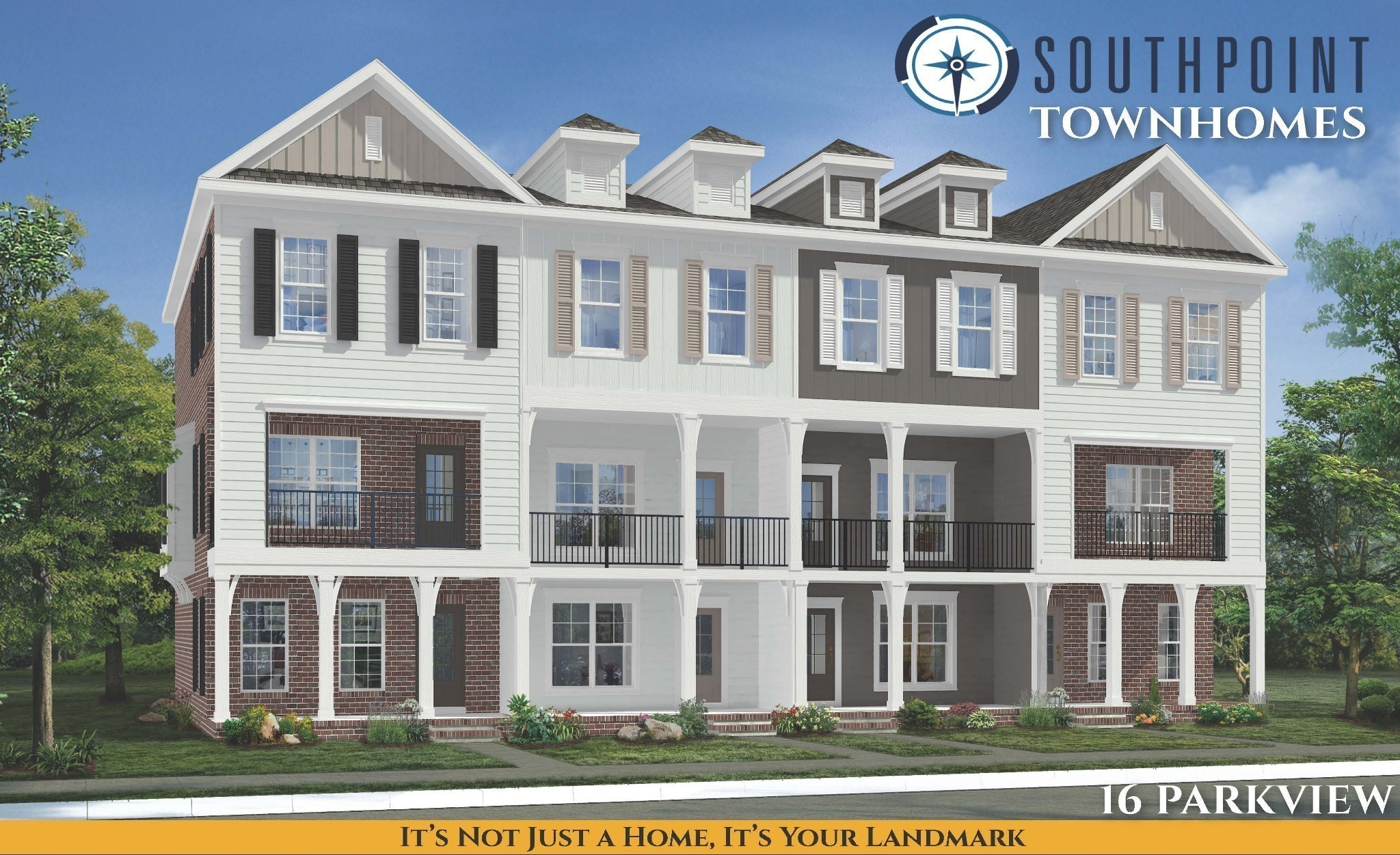 Come see Brentwood's newest luxury townhomes at Southpoint! Each unit features 3-level living with garages and customizable luxury finishes! Walkable community adjacent to brand new shopping center and restaurants/retail. Center Unit.