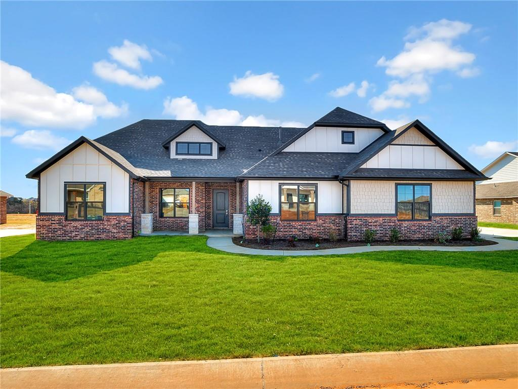 The Camden welcomes you home with an open formal entry that leads you into a spacious living room with a corner fireplace. This home plan includes a gourmet kitchen that features beautiful cabinetry, a walk-in pantry, granite countertops, and a well-lit breakfast area, with access to the covered patio. One of the unique features of this home plan is a private hallway that leads the way to a den, which can be used as a theater, playroom, or home office. Located on the opposite side of the home, the master suite features high ceilings and a relaxing master bathroom with split vanity sinks, corner soaking tub, separate shower, private toilet area, and huge walk-in closet. The three bedrooms have their own private hallway and two complete bathrooms.  Additional highlights include a laundry room, a front porch, and a three-car garage. With over 2,800+ square feet of spacious living our 4 bedroom, 3 bathroom Camden designer home has everything you ever desired and more.